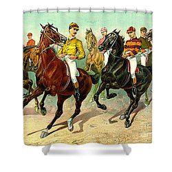 Racehorses 1893 Shower Curtain by Padre Art