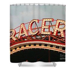 Racer Coaster Kennywood Park Shower Curtain by Jim Zahniser
