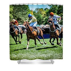 Racing Down The Stretch Shower Curtain