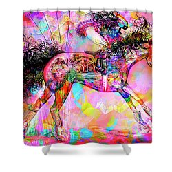 Racing For Time Shower Curtain