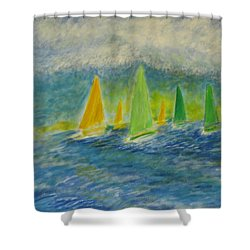 Racing Home Shower Curtain