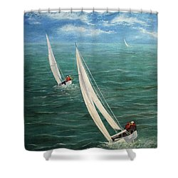 Racing Shower Curtain