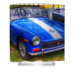 Racing Stripe Mg Shower Curtain