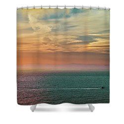 Racing The Sunrise Shower Curtain