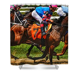 Racing Tight Shower Curtain