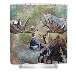 Rack And Roll Shower Curtain by Stuart Engel