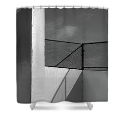 Shower Curtain featuring the photograph Racquetball IIi  by Richard Rizzo