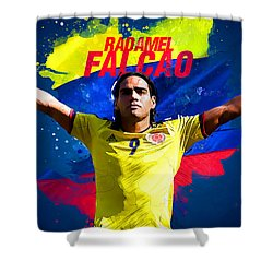 Radamel Falcao Shower Curtain