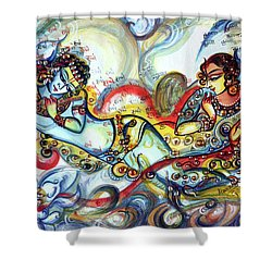Radha Krishna - Flute - Love Shower Curtain