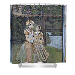 Radha Krishna Shower Curtain