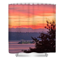 Radiance At Sunrise Shower Curtain