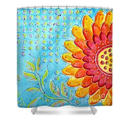 Radiance Of Christina Shower Curtain by Desiree Paquette