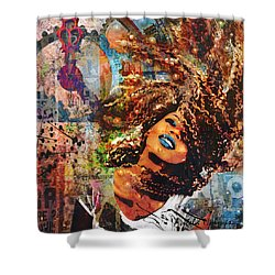 Radiant Shower Curtain by Angela Holmes