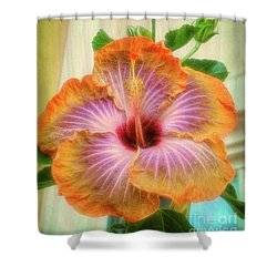 Radiant Hibiscus Shower Curtain