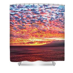 Radiant Sunset Over Maui Shower Curtain