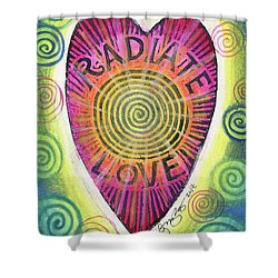 Radiate Love Shower Curtain