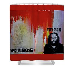 Radical Contingency Shower Curtain by James Gallagher