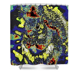 Radical Rodent Shower Curtain by DigiArt Diaries by Vicky B Fuller