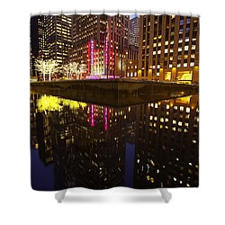 Radio City Reflection Shower Curtain
