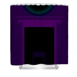 Radio Purple Palladio Shower Curtain by Charles Stuart