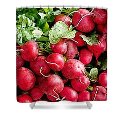Radishes 1 Shower Curtain by David Blank