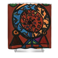 Raetsel Shower Curtain by Darrell Black