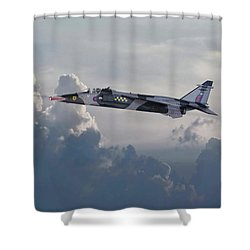 Shower Curtain featuring the photograph Raf Jaguar Gr1 by Pat Speirs
