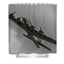 Raf Scampton 2017 - B-17 Flying Fortress Sally B Turning Shower Curtain