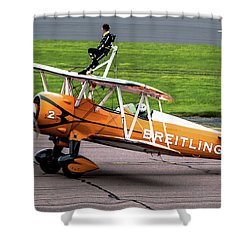Raf Scampton 2017 - Breitling Wingwalkers At Rest Shower Curtain