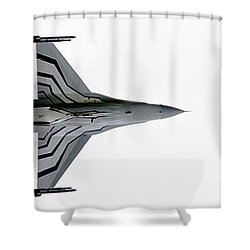 Raf Scampton 2017 - F-16 Fighting Falcon On White Shower Curtain