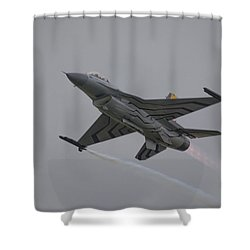 Raf Scampton 2017 - F-16 Fighting Falcon Shower Curtain