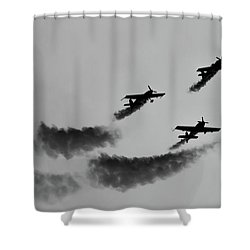 Raf Scampton 2017 - Global Stars Loop Black And White Shower Curtain