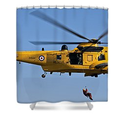 Raf Sea King Search And Rescue Helicopter 2 Shower Curtain