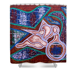 Rage Shower Curtain by Patrick J Murphy