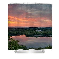 Ragged Mountain Sunrise Shower Curtain
