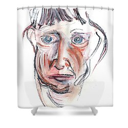 Raggedy Selfie Shower Curtain