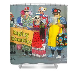 Raging Grannies  Shower Curtain by Rae  Smith