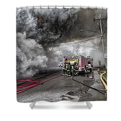 Shower Curtain featuring the photograph Raging Inferno by Jim Lepard