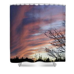 Shower Curtain featuring the photograph Raging Sky by Barbara Griffin
