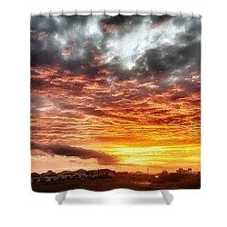 Raging Sunset Shower Curtain