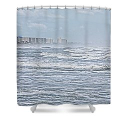 Raging Waters Shower Curtain by Deborah Benoit