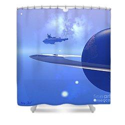 Raidor's Edge Shower Curtain by Corey Ford