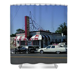 Shower Curtain featuring the photograph Raifords Disco Memphis A by Mark Czerniec