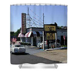 Shower Curtain featuring the photograph Raifords Disco Memphis B by Mark Czerniec
