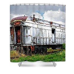 Rail Car Shower Curtain