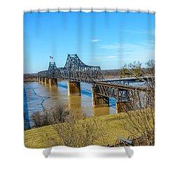Rail Road Bridge Shower Curtain by Jerry Cahill