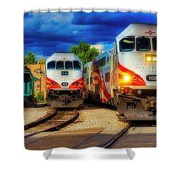 Rail Runner Express Shower Curtain