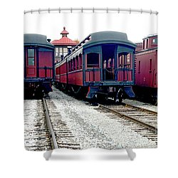 Shower Curtain featuring the photograph Rail Stock by Paul W Faust - Impressions of Light