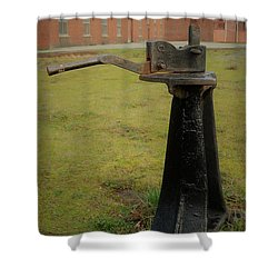 Rail Track Switch Shower Curtain