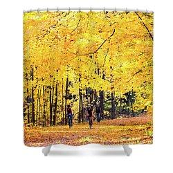 Autumn Glory On The Rail Trail Shower Curtain